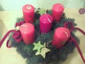 Weihnachtskranz mit 5 Kerzen